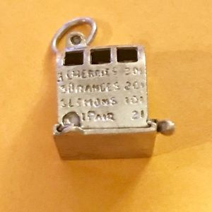 "Jewelry - STERLING SILVER ""SLOT MACHINE "" CHARM"
